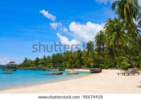 Beautiful tropical beach in island Koh Kood , Thailand - stock photo
