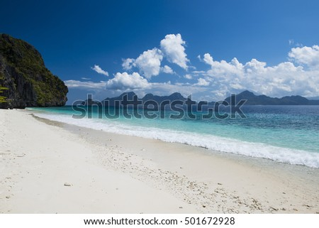 Beautiful tropical beach in Palawan, Philippines