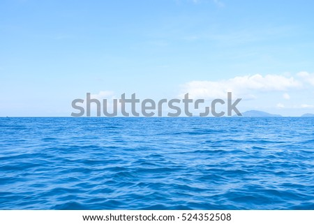 Beautiful tropical blue sea and sky