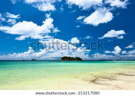 Beautiful tropical island at Seychelles - stock photo
