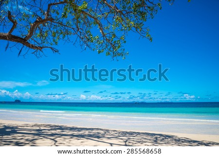 Beautiful tropical island beach - Phuket Thailand - stock photo