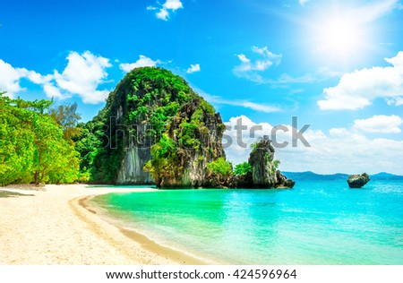Beautiful tropical island in Thailand. Holiday and Vacation concept - stock photo