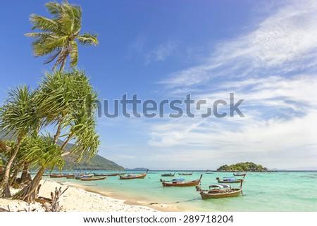 Beautiful tropical island, Koh Lipe in Thailand. - stock photo