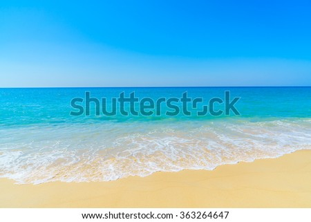 Beautiful tropical landscape beach sea and sand for vacation