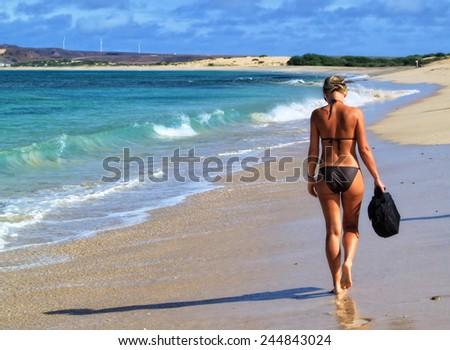 Beautiful tropical paradise island, Cape Verde - stock photo