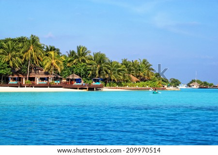 Beautiful tropical paradise island, the Maldives - stock photo