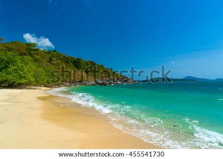 Beautiful tropical Thai beach - stock photo