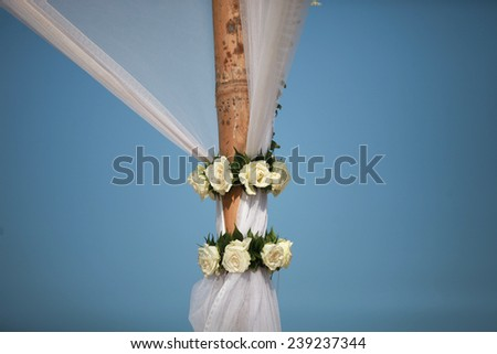 Beautiful tropical wedding venue. - stock photo