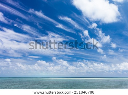 Beautiful Tropical white Sand Beach and crystal clear water. Sipadan Island, Borneo, Malaysia. - stock photo
