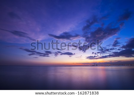 Beautiful twilight over the sea
