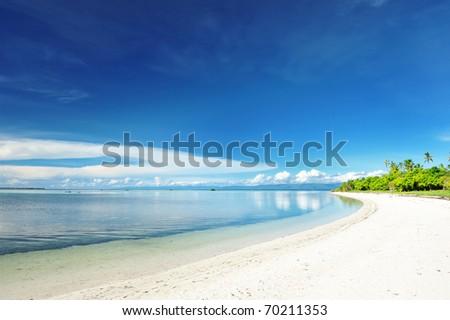 Beautiful uninhabited island at Philippines - stock photo