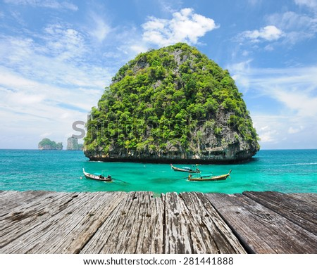 Beautiful uninhabited island in Thailand - stock photo