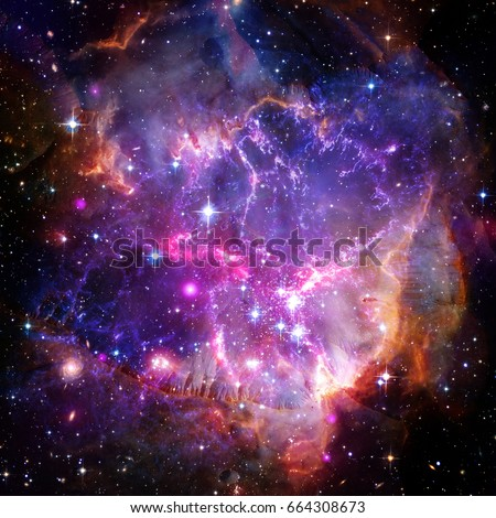 Beautiful Universe Scene Planets Stars Galaxies Stock ...