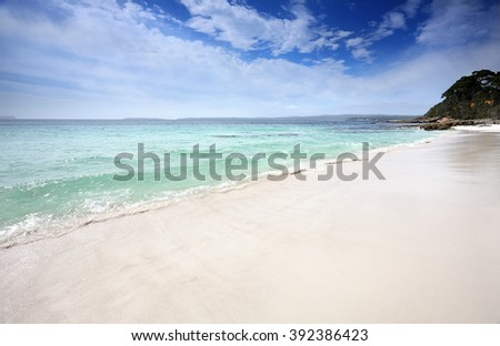 Beautiful unspoilt beaches of Jervis Bay, Australia with clean sand and waters