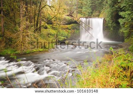 Beautiful upper north  waterfall - stock photo