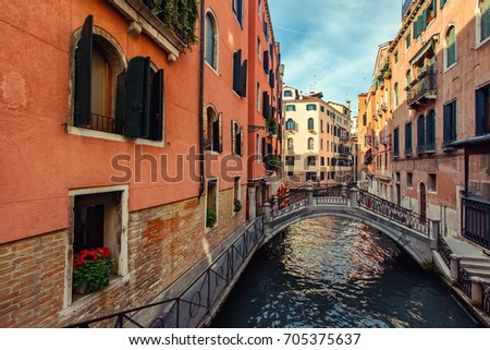 Beautiful Venice city at summertime. Italy, Europe