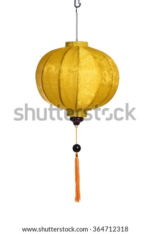 Beautiful Vietnamese Lantern in White Background - stock photo