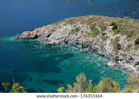 beautiful view in Elba Island - stock photo