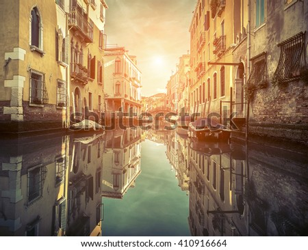 Beautiful view in Venice, Italy. - stock photo