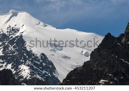 Beautiful view of a mountains landscape in Western Siberia, Altai mountains