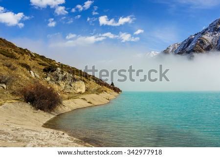 Beautiful view of Big Almaty lake                          - stock photo