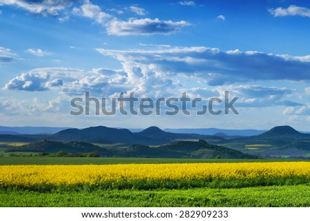 Beautiful view of Central Bohemian Uplands, Czech republic, Europe.