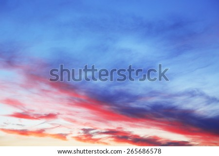 Beautiful view of cloudy sky - stock photo