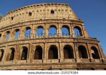 Beautiful view of Coliseum, Roma, Italy