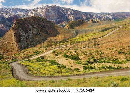 Beautiful view of Cottonwood Canyon Road, Utah. - stock photo