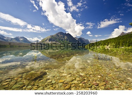 Beautiful View Of Glacier National Park - stock photo