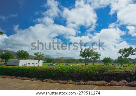 Beautiful view of Honolulu, Hawaii, United States - stock photo