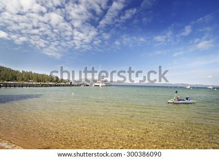 Beautiful View of Lake Tahoe - stock photo