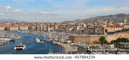 Beautiful view of Marseille, Provence, France
