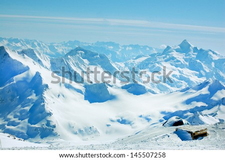 Beautiful view of mountains - stock photo