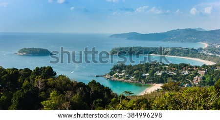 Beautiful view of Phi Phi island in Thailand - stock photo