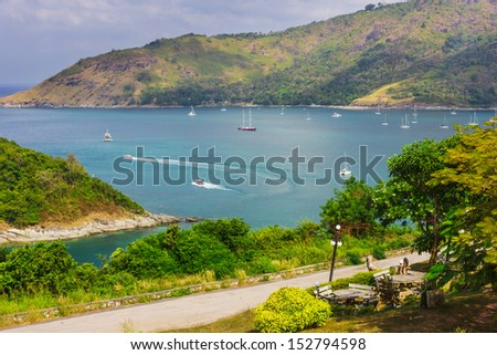 Beautiful view of Phuket island from viewpoint