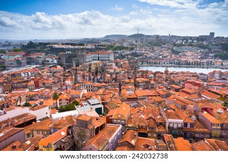 Beautiful view of Porto city, Portugal