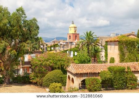 Beautiful view of Saint Tropez - stock photo