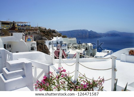 Beautiful view of Santorini, Greece