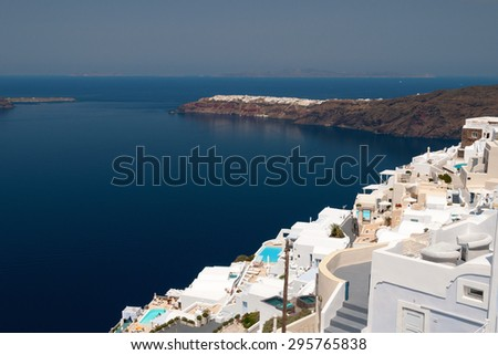 Beautiful view of Santorini Island view, Greece