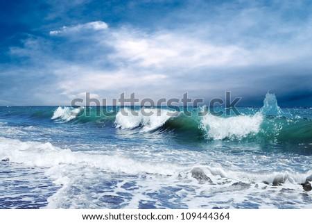 Beautiful View of seascape - stock photo