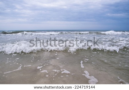 Beautiful view of seascape waves