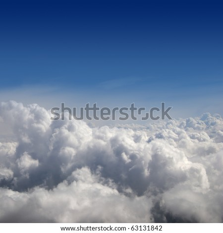 Beautiful view of sky - stock photo