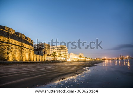 Beautiful view of the Castle in Larnaka, Cyprus - stock photo