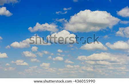 beautiful view of the cloudy sky