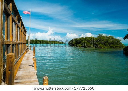 Beautiful view of the Florida Keys. - stock photo