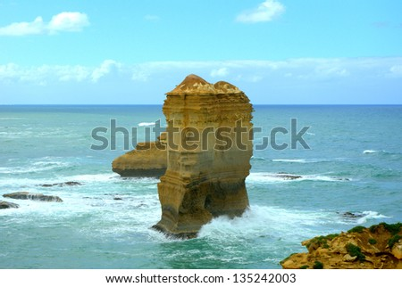 Beautiful view of the twelve apostles along the great ocean road in Melbourne australia