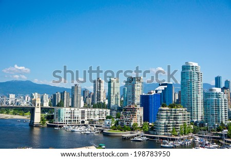 Beautiful view of Vancouver, British Columbia, Canada - stock photo