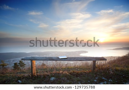 Beautiful view on a coastline. - stock photo