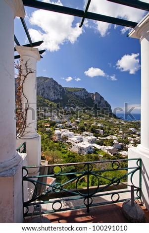 beautiful view on capri island, italy - stock photo